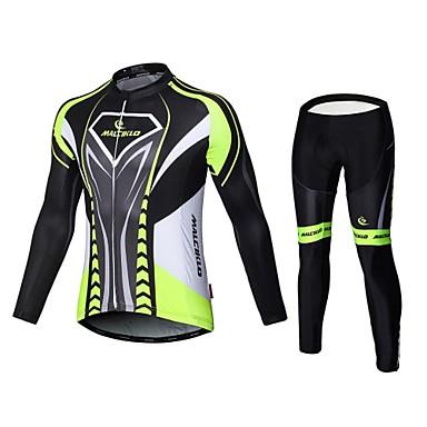 Malciklo Calça com Camisa para Ciclismo Homens Manga Longa Moto Meia-calça Roupas de Compressão Calças Conjuntos de Roupas Secagem Rápida