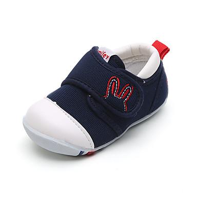 Unisexo sapatos Lona Primavera Outono Conforto Rasos para Casual Azul Escuro Vermelho Rosa claro