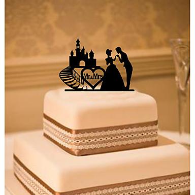 Tortenfiguren & Dekoration Klassisch Klassisches Paar Acryl Hochzeit mit Blume 1 Geschenkbox