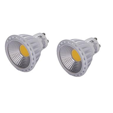 YouOKLight 2pcs 450lm GU10 LED Spot Lampen MR16 1 LED-Perlen COB Abblendbar Dekorativ Warmes Weiß Kühles Weiß 220-240V