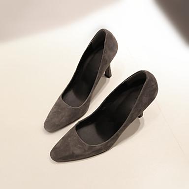 Hæle-Læder-Komfort-Damer-Sort Grå Bourgogne-Fritid-Stilethæl