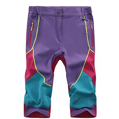 Mulheres Shorts de Corrida Respirável Confortável Calças para Exercício e Atividade Física Corrida Algodão Náilon Chinês Solto Roxo M L