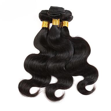 Cabelo Brasileiro Pacotes Não processado Cabelo Virgem Onda de Corpo Tramas de cabelo humano 3 Peças 100% Virgem Venda imperdível Cabelo