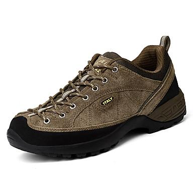 Homens sapatos Couro Ecológico Primavera Outono Conforto Tênis Aventura Cadarço para Ao ar livre Azul Escuro Cinzento Khaki