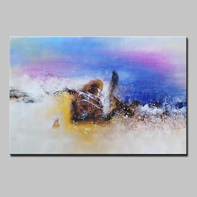 Pintados à mão Abstracto / Paisagens Abstratas Pinturas a óleo,Modern 1 Painel Tela Hang-painted pintura a óleo For Decoração para casa