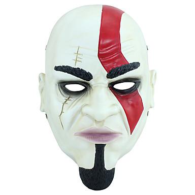 Maske Super Helte Festival/Højtider Halloween Kostumer Hvid Trykt mønster Maske Halloween / Jul / Karneval / Barnet's Dag / Nytår Unisex