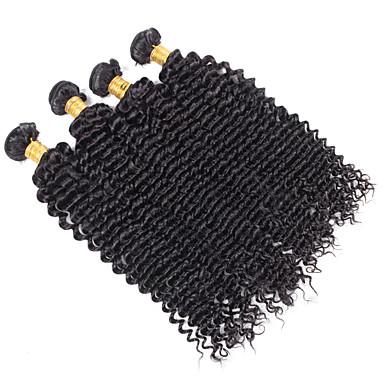 Human Hair vævninger Peruviansk hår Dyb Bølge 18 Måneder 4 Dele hår vævninger
