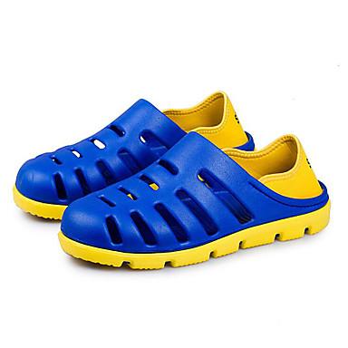 Masculino Sapatos PVC Couro Ecológico Verão Sandálias Caminhada Rasteiro Para Preto Cinzento Marron Azul