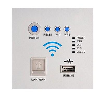 Tick Cabeada Others Network usb socket panel Branco / Prateada
