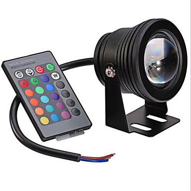 10W 480lm Festong Undervannslys Innfelt retropassform 1 LED perler Integrert LED Mulighet for demping Dekorativ Fjernstyrt RGB 12V 85-265V