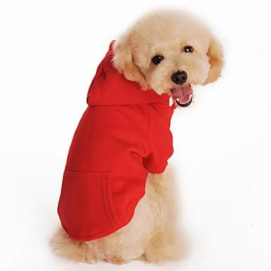 Katze Hund Kapuzenshirts Hundekleidung Solide Schwarz Orange Grau Rot Baumwolle Kostüm Für Haustiere Herrn Damen Lässig/Alltäglich Sport