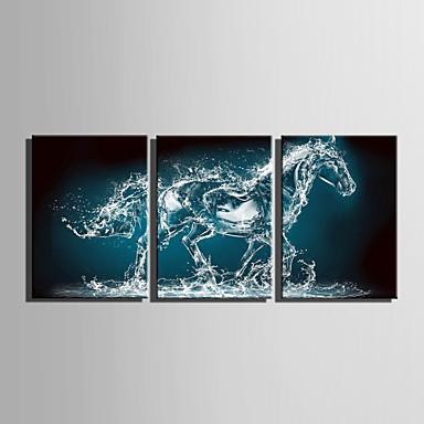 Canvas Set Dieren Europese Stijl,Drie panelen Canvas Verticaal Print Art wall Decor For Huisdecoratie