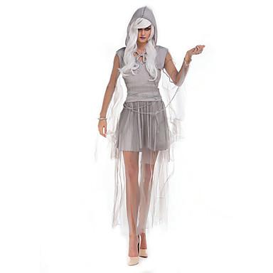 Hexe Cosplay Kostüme Party Kostüme Damen Halloween Fest / Feiertage Halloween Kostüme Grau Solide