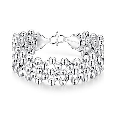 Dames Armbanden met ketting en sluiting Bohemia Style Modieus Sterling zilver Verzilverd Legering Cirkelvorm Wit Sieraden VoorFeest