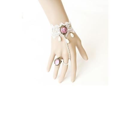 Acessórios Lolita Lolita Clássica e Tradicional Bracelete/Pulseira Vitoriano Feminino Branco Acessórios Lolita Rendas Bracelete Jóias
