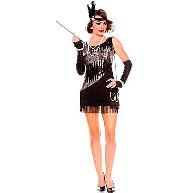 Dronning Eventyr Cosplay Kostumer Festkostume Kvindelig Halloween Karneval Festival / Højtider Halloween Kostumer Sort Ensfarvet