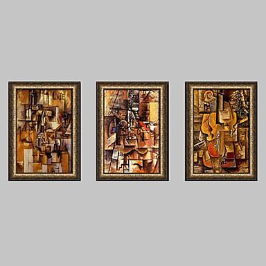 Fantazie Kanvas v rámu / Set v rámu Wall Art,PVC Zlatá Bez pasparty s rámem Wall Art