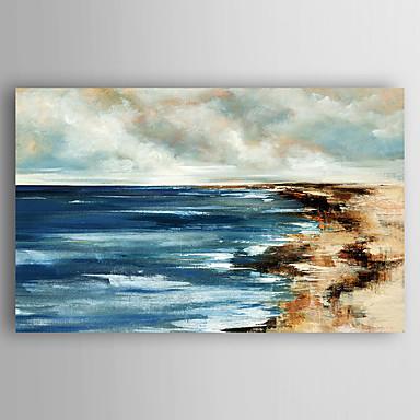 Handgeschilderde Abstracte landschappen Olie schilderijen,Modern Eén paneel Canvas Hang-geschilderd olieverfschilderij For Huisdecoratie