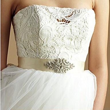 Satijn/tule Bruiloft Sjerp With Strass Dames Sjerpen