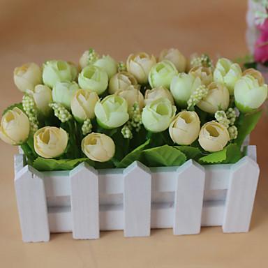 Künstliche Blumen 1pcs Ast Simple Style Rosen Tisch-Blumen