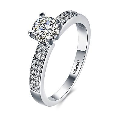 Damen bezaubernd Luxus / Böhmische / Bikini Sterling Silber / Zirkon / Kubikzirkonia Bandring / Statement-Ring - Personalisiert / Luxus /