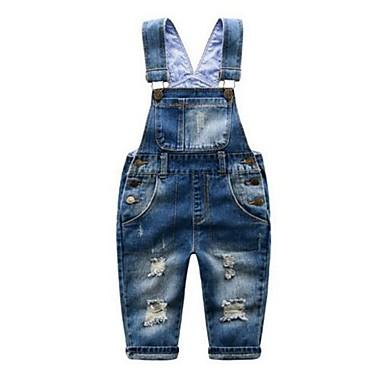 Baby Drenge Ensfarvet Uden ærmer Bomuld Bukser / Jeans