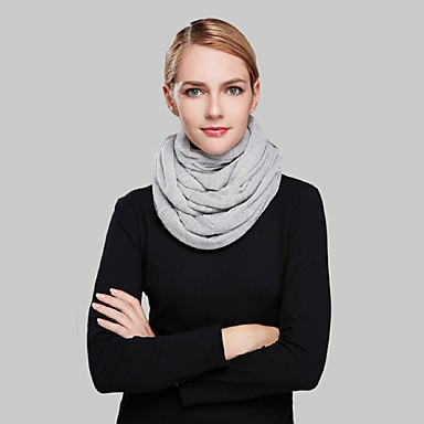 Damer Casual Akryl Halstørklæde-Ensfarvet Uendelighedshalstørklæde Grå
