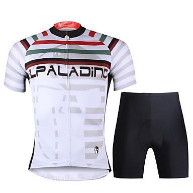 ILPALADINO Wielrenshirt met shorts Heren Korte Mouw Fietsen PakkenSneldrogend Ultra-Violetbestendig Ademend Vermindert schuren Compressie