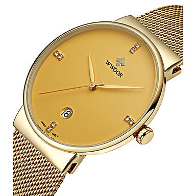 WWOOR Homens Relógio de Pulso Relógio Elegante Relógio de Moda Quartzo Quartzo Japonês Calendário Impermeável imitação de diamante