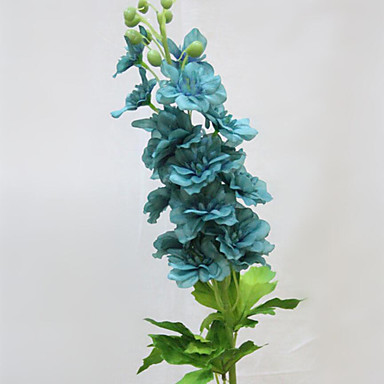 Kunstige blomster 1 Gren Enkel Stil Kurvplante / Riddersporer Bordblomst