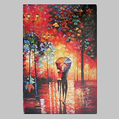 Hand-Painted Abstract / Landscape One Panel Canvas Oil Painting For Home Decoration
