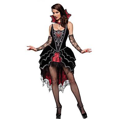 Gespenstische Braut Cosplay Kostüme Halloween / Oktoberfest Fest / Feiertage Halloween Kostüme Schwarz Patchwork