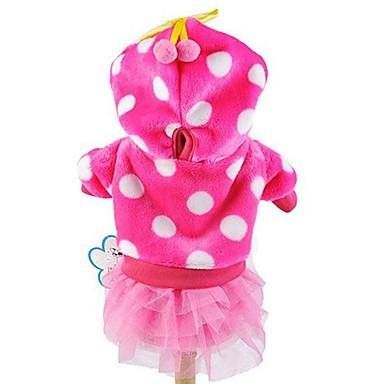 Katze Hund Kapuzenshirts Kleider Hundekleidung Niedlich Modisch Punkt Rose Blau Rosa Kostüm Für Haustiere