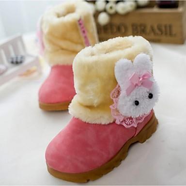 Meisjes Schoenen Katoen Bont Winter Snowboots Laarzen voor Causaal Fuchsia Rood Khaki
