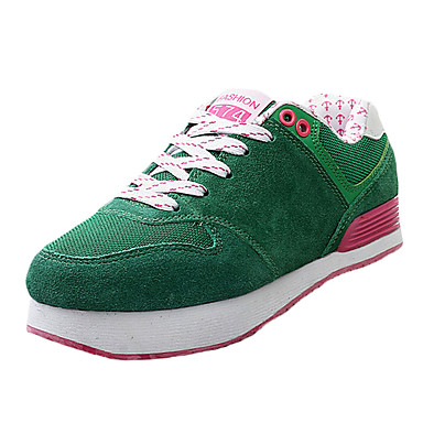 Sneakers-RuskindUnisex-Blå Grøn Rød Grå-Sport-Flad hæl