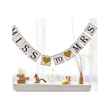 Boda / Cumpleaños / Pedida Papel perlado Decoraciones de la boda Tema Floral / tema de la vendimia / tema rústico Primavera / Verano / Otoño