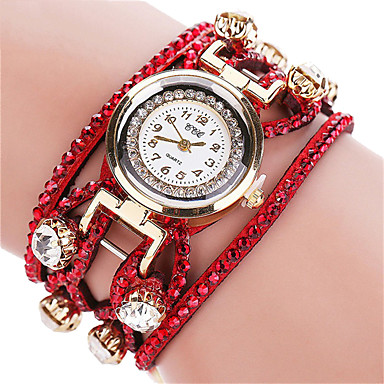 Dame Modeur Armbåndsur Quartz / Stof Bånd Sej Afslappet Sort Hvid Rød Orange Brun Pink Lilla Beige Rose