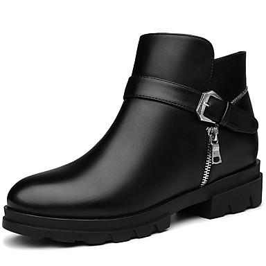 Støvler-SyntetiskDame-Sort Rød-Kontor Fritid-Tyk hæl