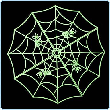 3pcs alta qualidade das bruxas teia de aranha luminosa casa bar decoração etiqueta