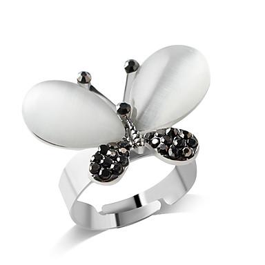 abordables Bague-Anneau Alliance Bague Femme Fille Imitation Diamant Alliage Papillon Animal Personnalisé Mode Bagues Tendance Bijoux Argent pour Soirée Quotidien