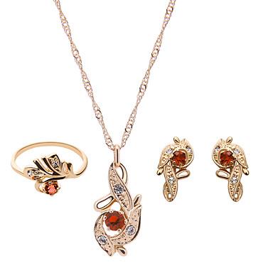 Mujer Conjunto de joyas - Brillante, Rosa Oro Plateado Moda Incluir Rojo / Rosa Para Boda / Fiesta / Anillos / Pendientes / Collare