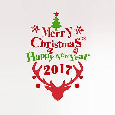 Dieren / Kerstmis / Woorden en Citaten Wall Stickers Vliegtuig Muurstickers Decoratieve Muurstickers,PVC MateriaalWasbaar / Verwijderbaar