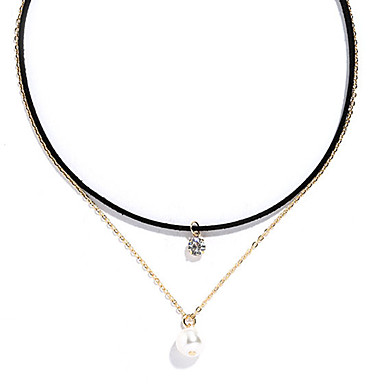 4ec256215aa57 Women's Choker Necklace Tattoo Choker Layered Tassel Ladies ...
