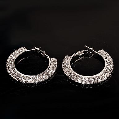 Dames Modieus Koper Verzilverd Cirkelvorm Sieraden Voor Bruiloft Feest Dagelijks