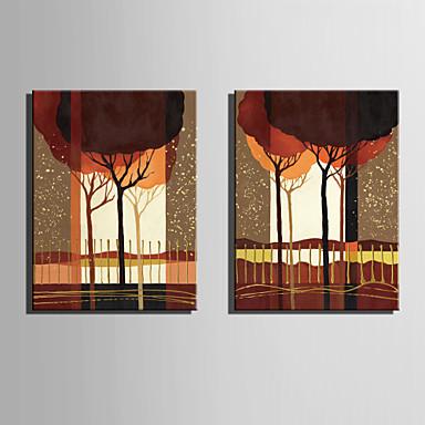 Pejzaž / Botanički Canvas Print Dvije zavjese Spremni za objesiti , Vertikalno