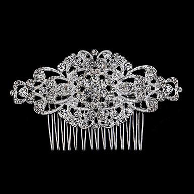 Perle Krystal Rhinsten Legering Hair Combs 1 Bryllup Speciel Lejlighed Afslappet Medaljon