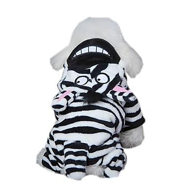 Kat Hund Kostume Jumpsuits Hundetøj Sødt Cosplay Dyr Hvid/Sort Kostume For kæledyr