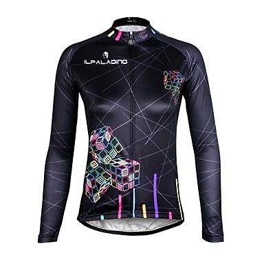 ILPALADINO Mulheres Manga Longa Camisa para Ciclismo Moto Camisa/Roupas Para Esporte, Secagem Rápida, Resistente Raios Ultravioleta,