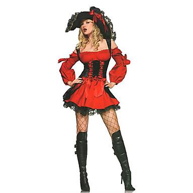 Seeräuber Cosplay Kostüme Party Kostüme Damen Halloween Fest / Feiertage Halloween Kostüme Rot Spitze