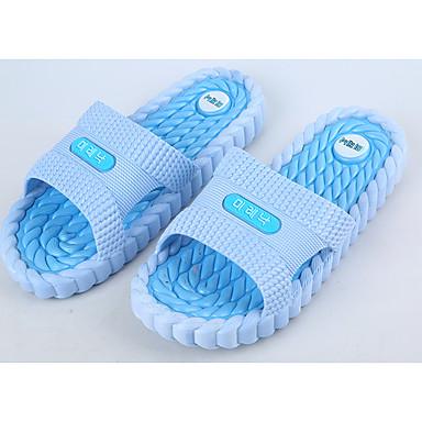 Slippers & Flip-Flops-PVC-Komfort-Dame-Blå / Rosa / Oliven-Hverdag-Flad hæl